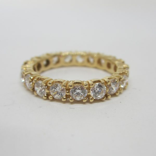 Cubic yellow gold band