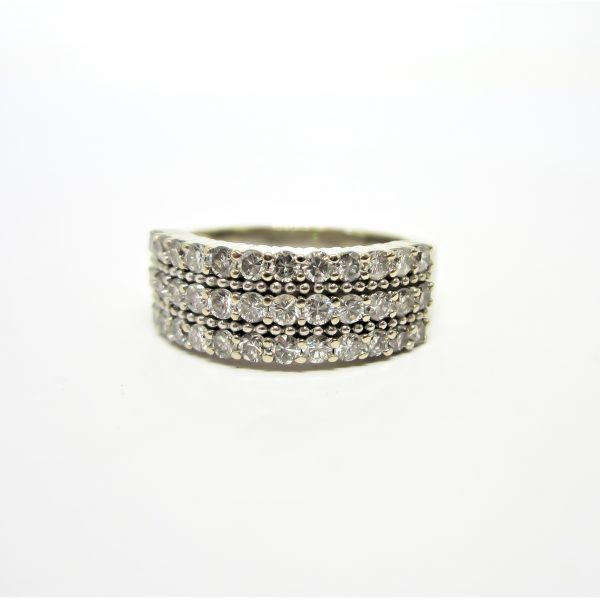 White Gold Diamond Pave Band