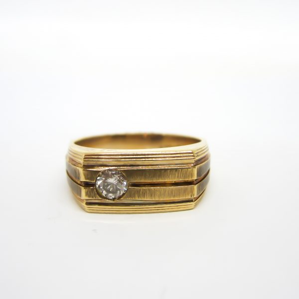 Mens Gold and Diamond Ring