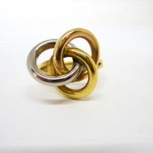 18k Two Tone Knot Ring