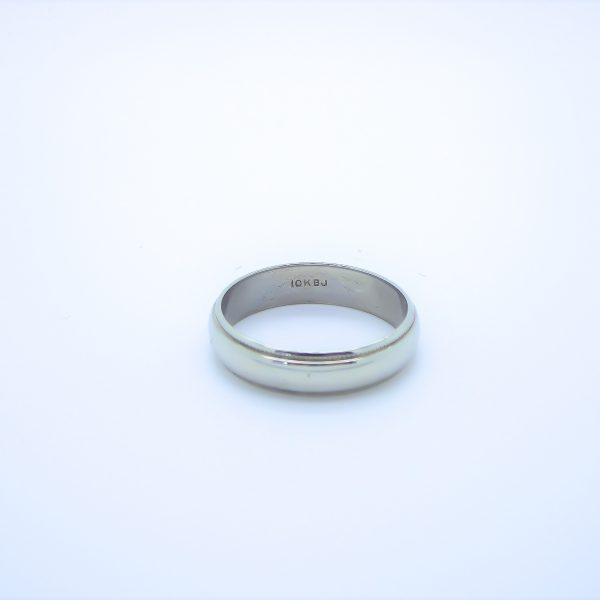 10k White Gold Band, Wedding Band