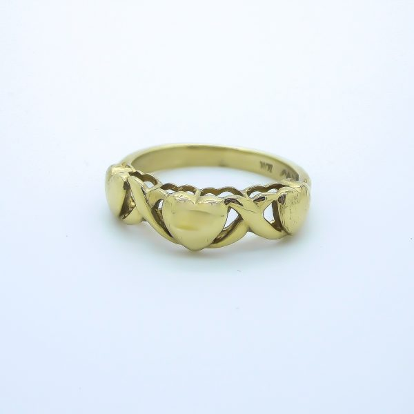 "10k Yellow Gold Heart ""XO"" Ring"
