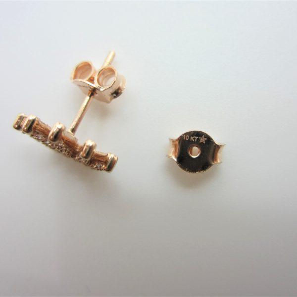 10k rose gold crown earrings