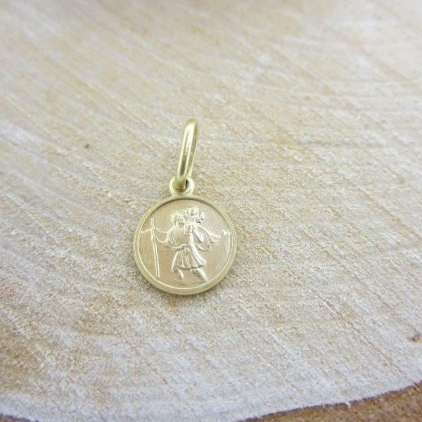Yellow Gold St. Christopher Religious Charm, Religious Jewellery