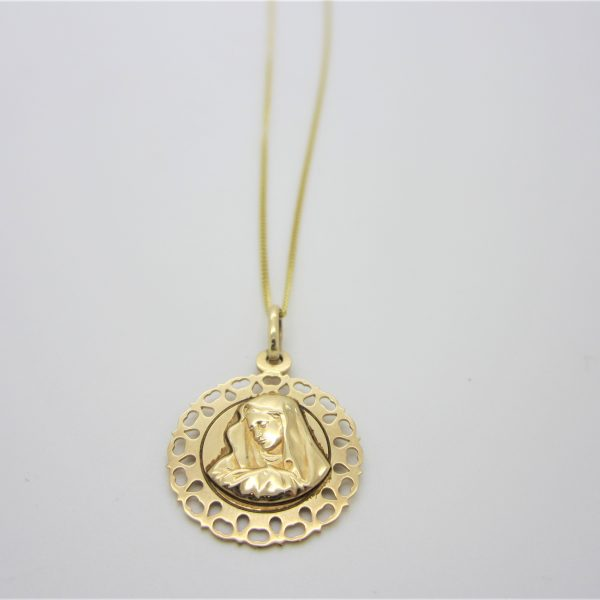 10k Yellow gold Mother Mary charm