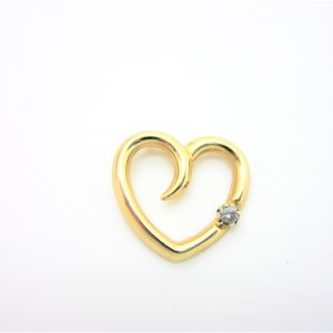 10k Yellow Gold Heart Pendant