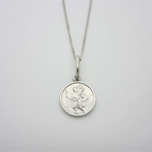 white gold St. Christopher charm