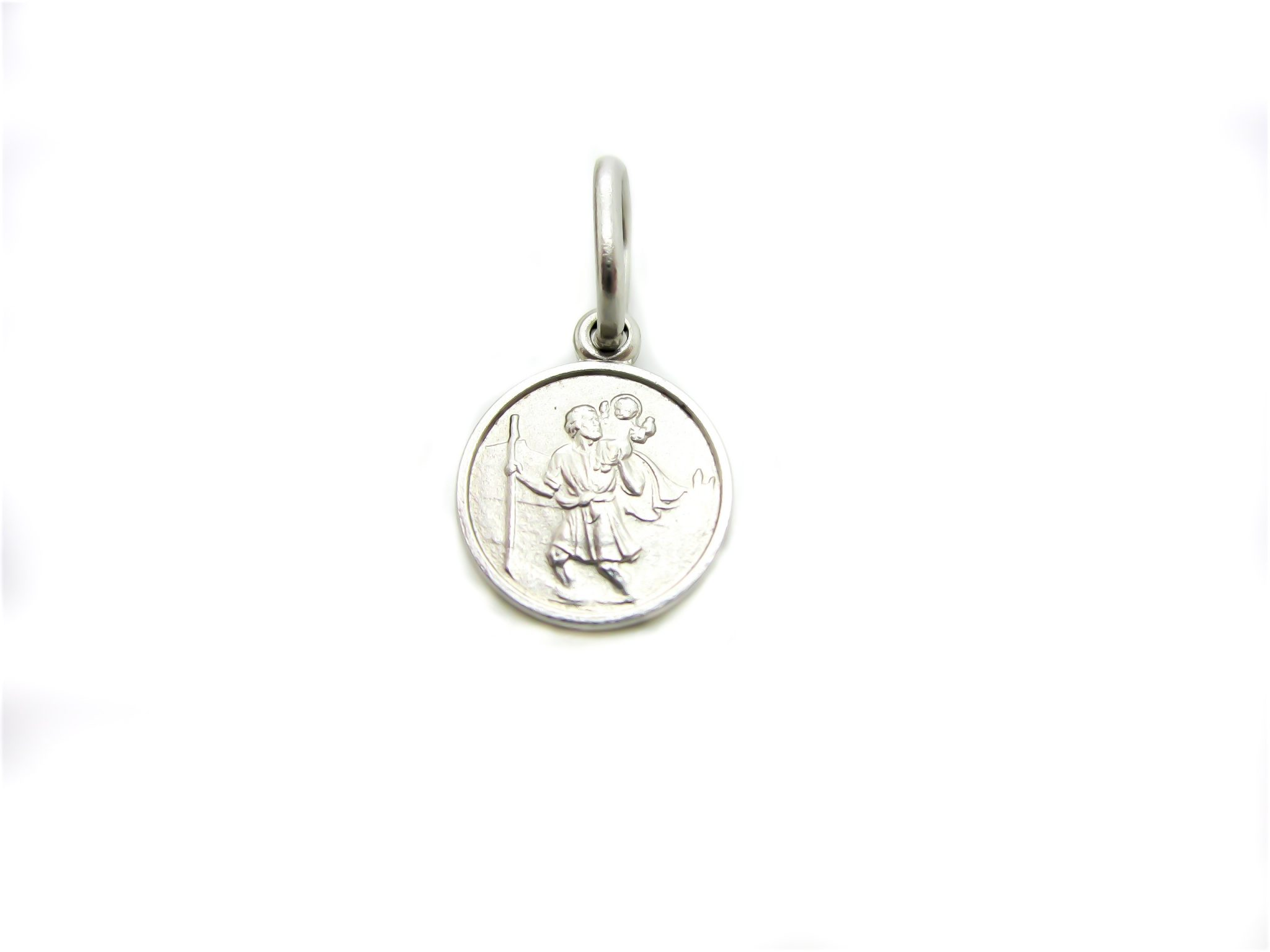 c96dc1decce 10k White Gold St. Christopher Religious Charm | G&G Jewellery