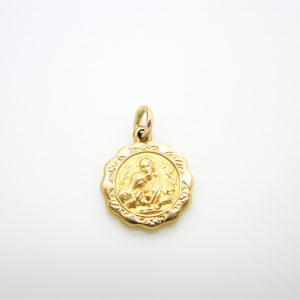 10k Yellow Gold First Communion Pendant