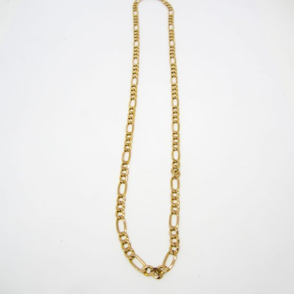 10K Yellow Gold Figero Link Chain