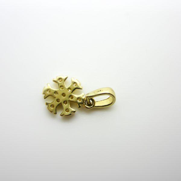 10k Yellow Gold Snow Flake