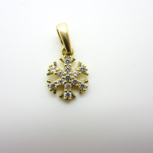 10k Yellow Gold Snow Flake