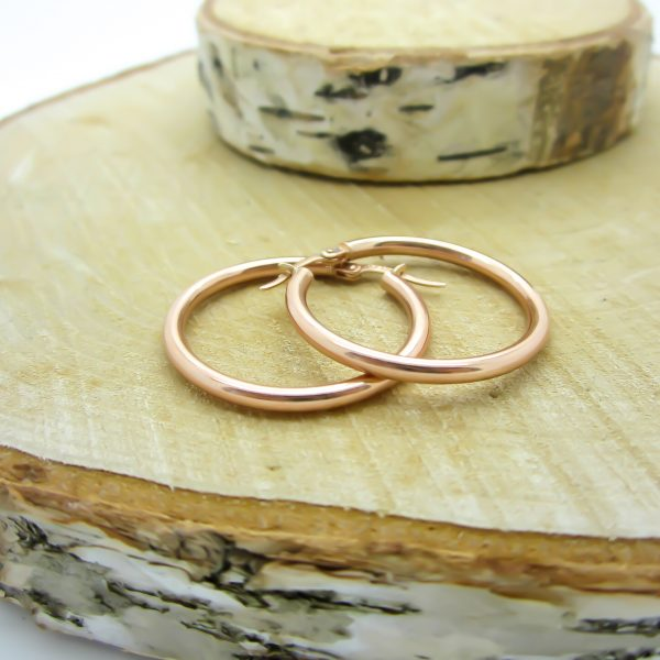 10k Rose Gold Hoop Earrings