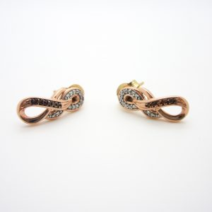 10k rose gold diamond earrings