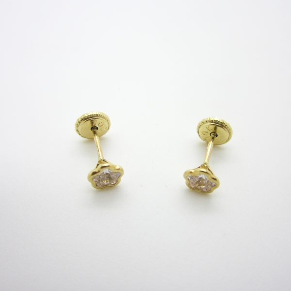 10k Children's Flower Stud Earrings