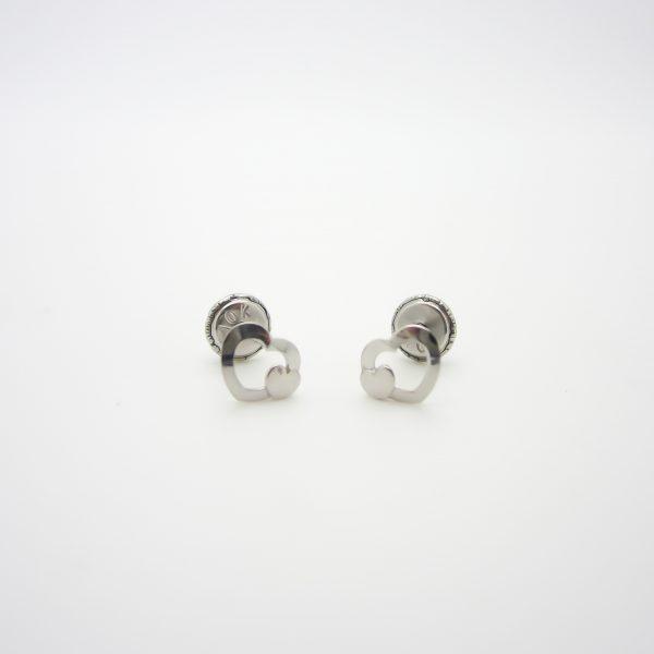 10k White Gold Children's Heart Stud Earrings
