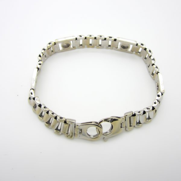 Mens 14k White Gold Bracelet