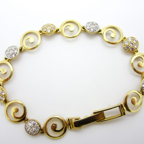 18k White and Yellow Gold Ladies Bracelet