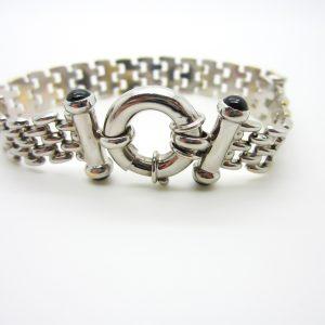 14k White Gold Panther Link Bracelet