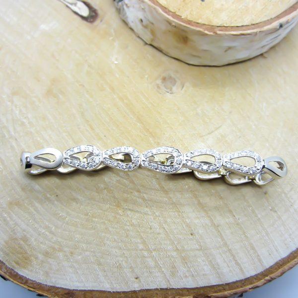Ladies 18k White Gold Bracelet