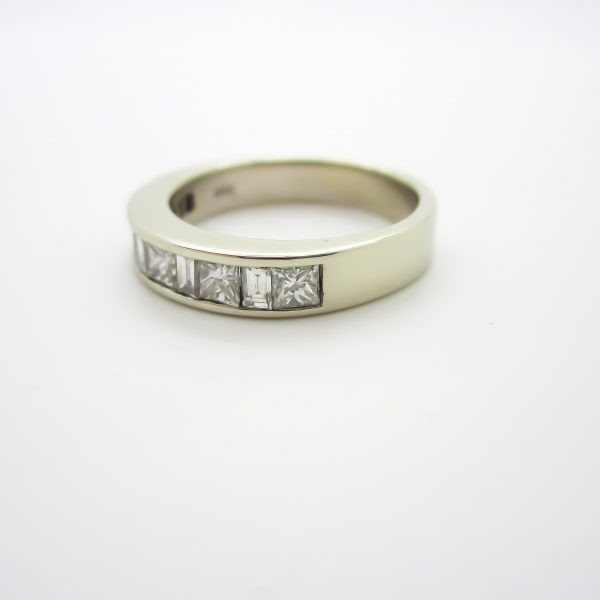Ladies Princess and Baguette Diamond Band