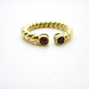 18k Yellow Gold Ruby Open Style Ring