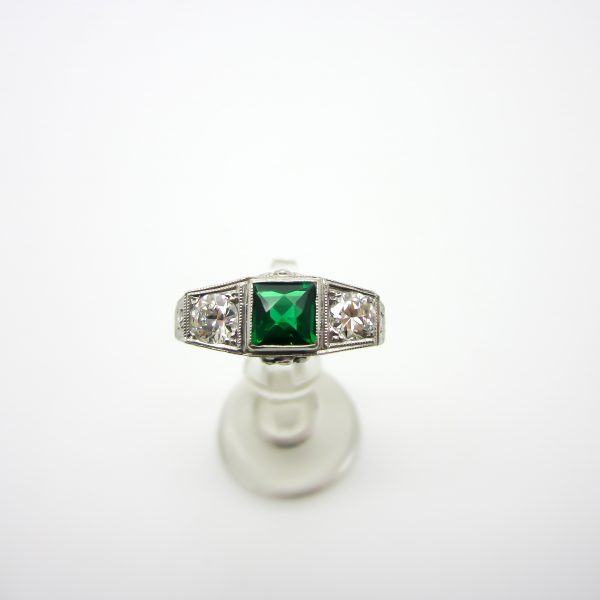 Tsvarite and Diamond Ring