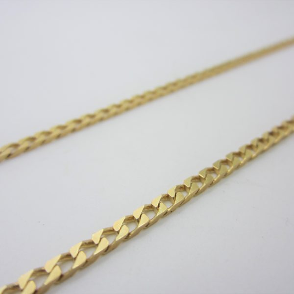 18K YELLOW GOLD CURB LINK CHAIN