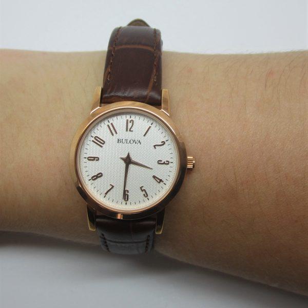 Ladies Bulova Leather Strap Watch