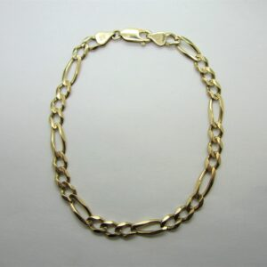 Men's 10K Yellow Gold Figaro Bracelet