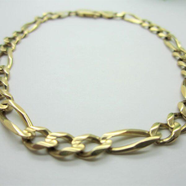 Men's 10K Yellow Gold Figaro Bracelet